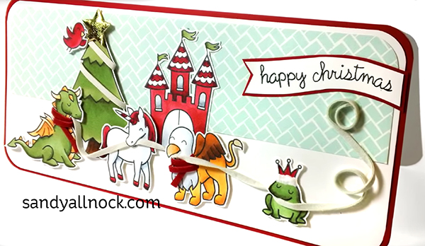 May Arts and Lawn Fawn: Christmas castle card