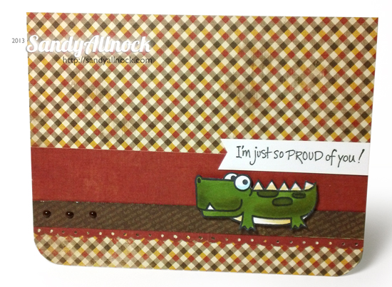 Sandy Allnock - Paper Smooches gator