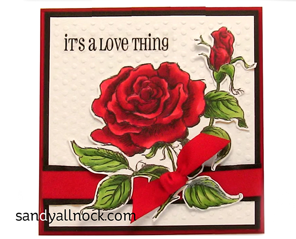 Stampendous red red rose: double tutorial!