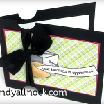 Notched Silk Ribbon Card