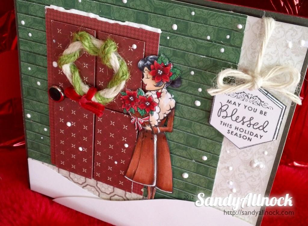 Burlap Wreath Card