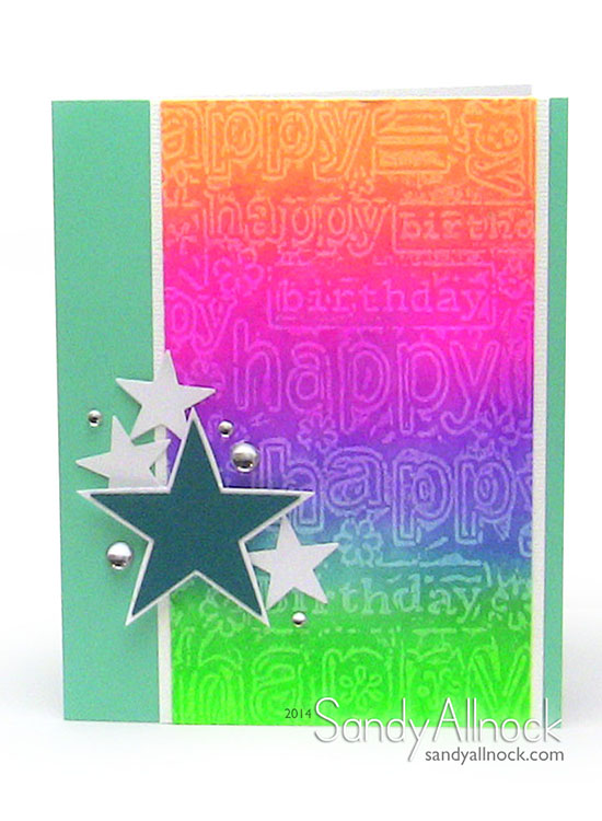 Sandy Allnock Embossed Wax Resist Tutorial 1