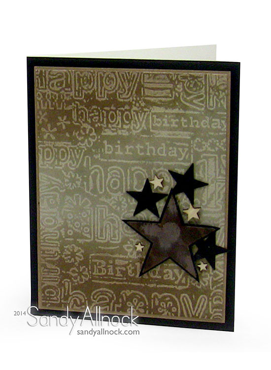 Sandy Allnock Embossed Wax Resist Tutorial 2