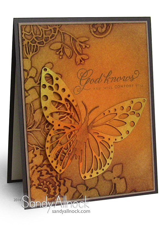 Sandy Allnock Instagram Embossing - Distress Ink Techniques