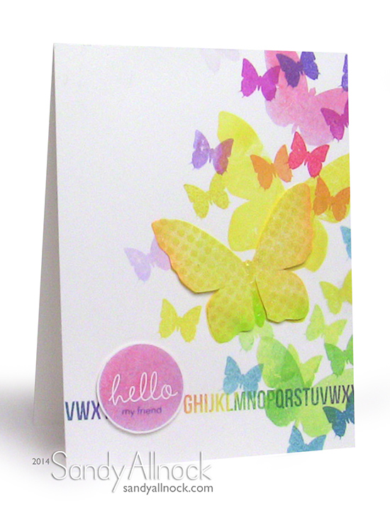 Simon Says Butterfly cards