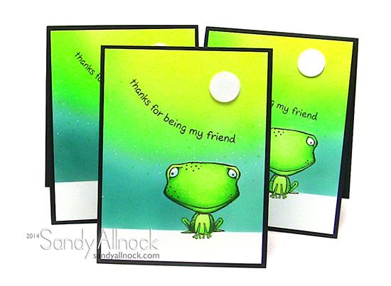 Sandy Allnock Purple Onion Frogs