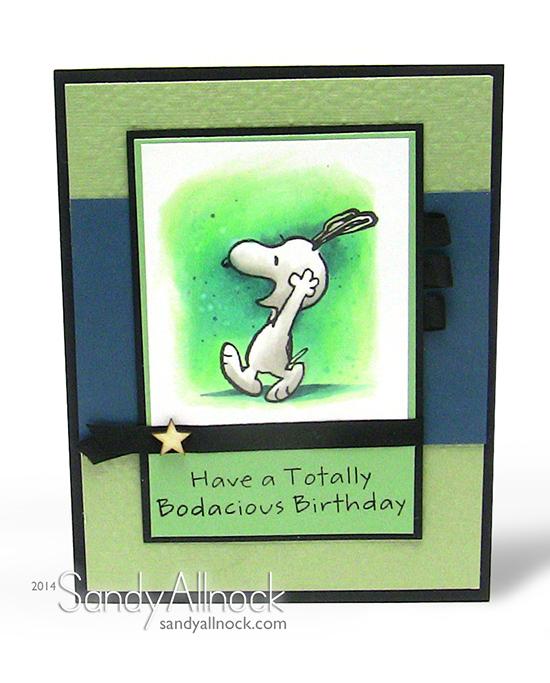 Sandy Allnock Snoopy Bday