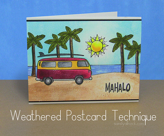 Weathered Postcard Technique