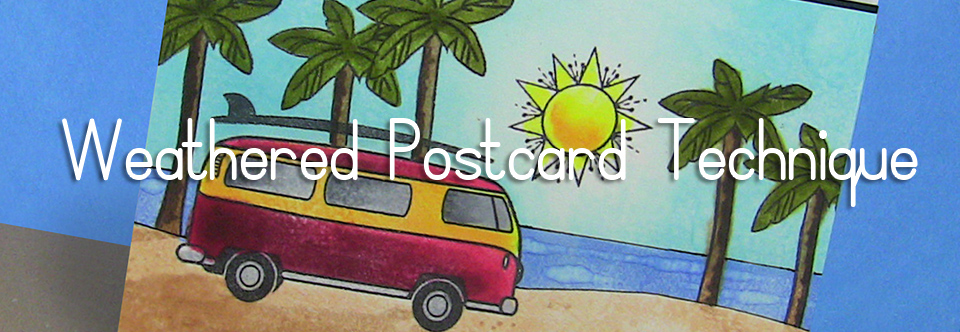 SN Bloghop: Weathered Postcard Technique [Video]
