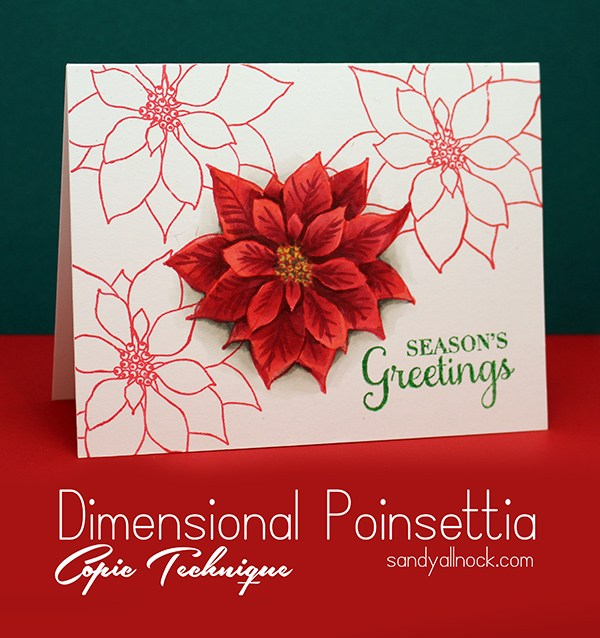 Color a dimensional poinsettia