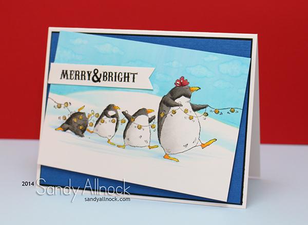 Sandy Allnock Christmas Penguins
