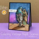 How to color vintage night scenes