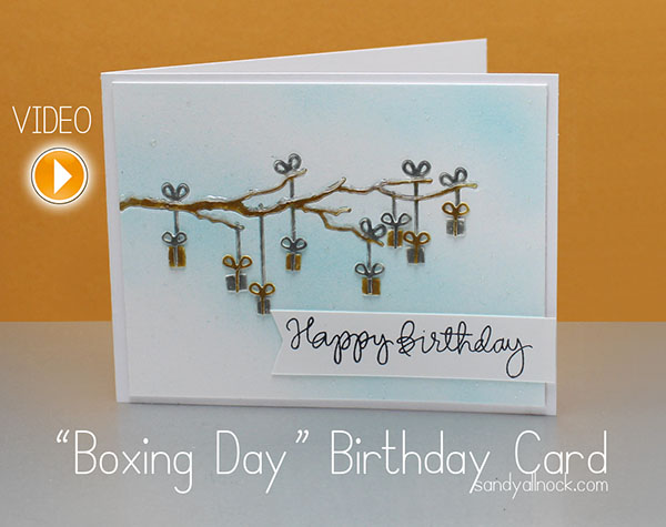 Sandy Allnock - Boxing Day Birthday Card