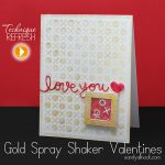 Gold Mist Metallic Shaker Valentines