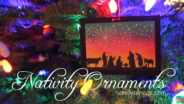 Sandy Allnock Nativity Ornaments