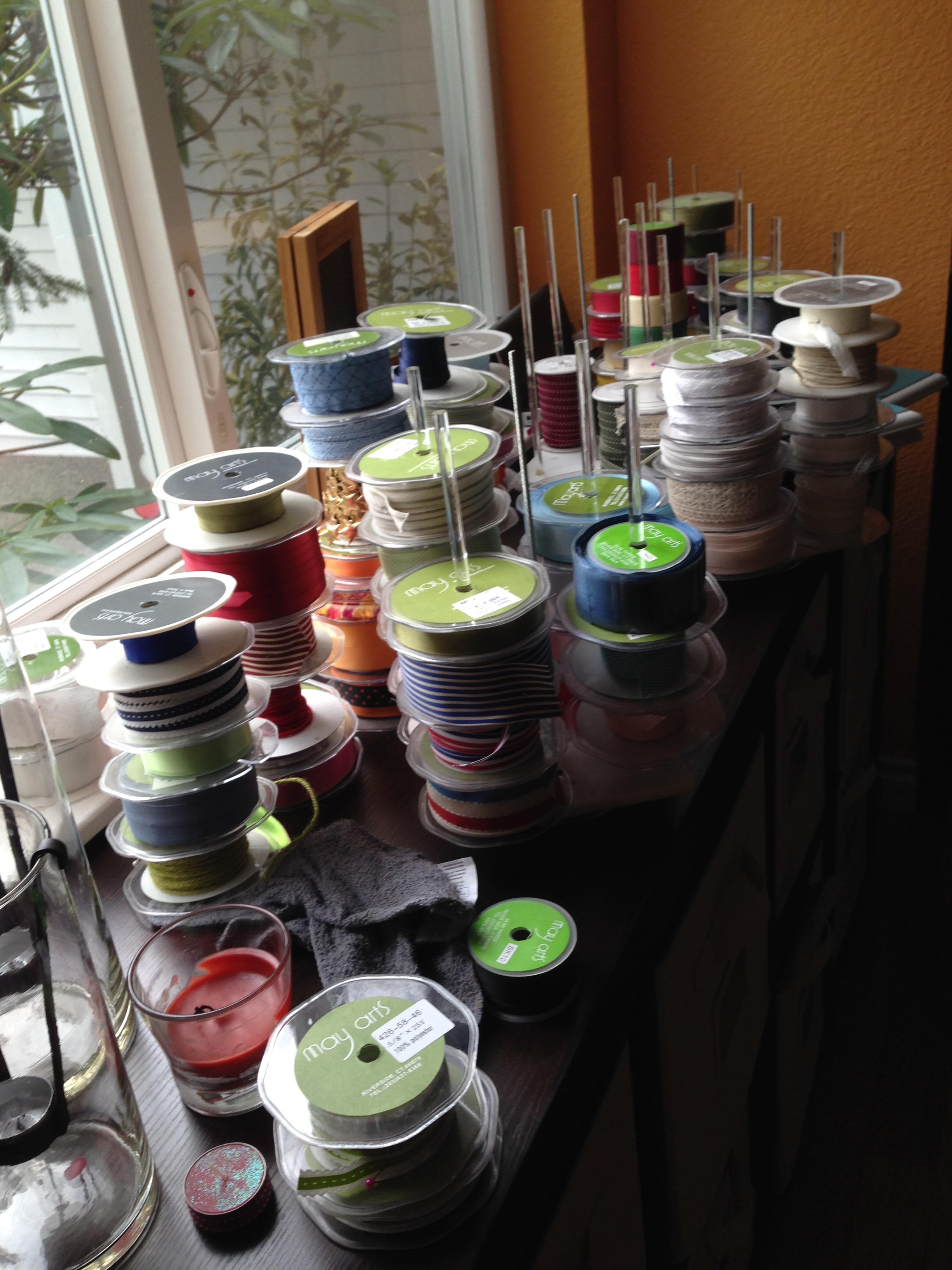 Crafty organization - ribbon carousels