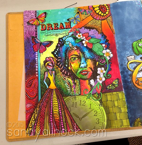 Sandy Allnock - Dream - Art journal ideas