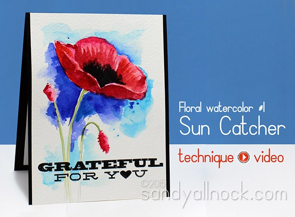 Watercolor Flowers Series: #1, Sun Catcher