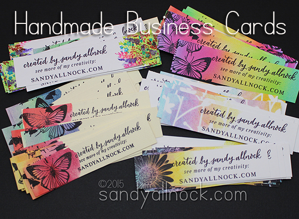 Sandy Allnock - Handmade Business Cards1