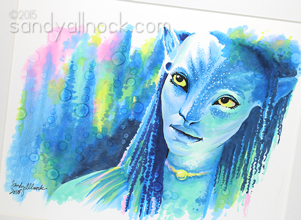 Neytiri Fan art by Sandy Allnock