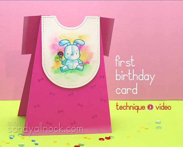 Boy and Girl First Birthday Card – Copic Watercolor