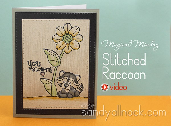 Magical Monday: Stitched Raccoon