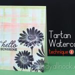 Tartan and Argyle (ish) Watercolor background
