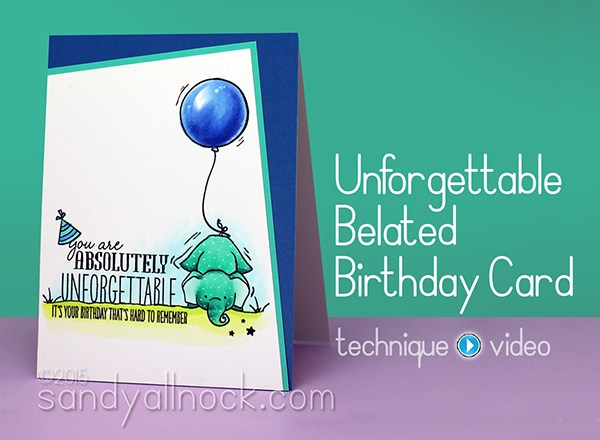 Belated birthday card Ideas – Unforgettable Elephants