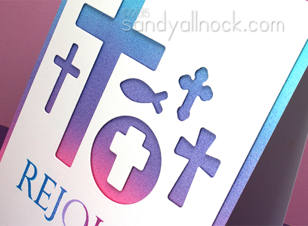 Sandy Allnock Die Cut Cross Wall Art Card2
