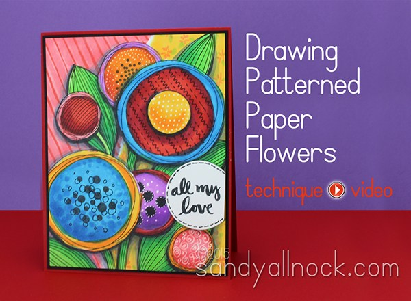 Drawing Pattened Paper Flowers