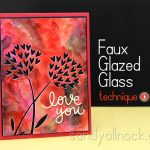 Watercolor Background Tutorial – Faux Glazed Glass