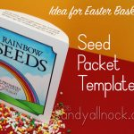 Rainbow Seed Packet Template (Downloadable)