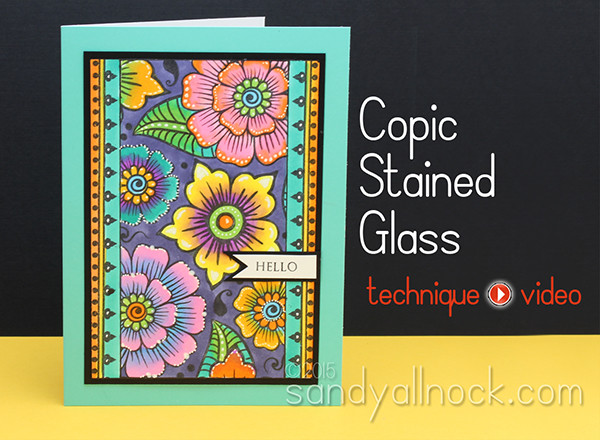 Stained Glass: With Copic Blending Tips