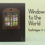 Watercolor Peekaboo Window Cards