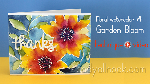 Watercolor Flowers Series #4: Garden Bloom