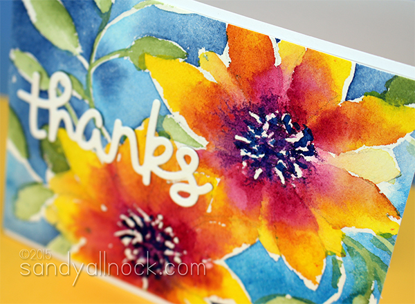 Sandy Allnock Watercolor Flowers 4a