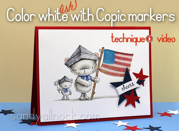 How to color white with Copics: Fuzzy bear!