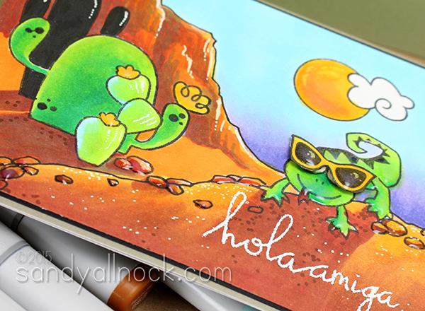 Sandy Allnock Coloring Desert Scenes