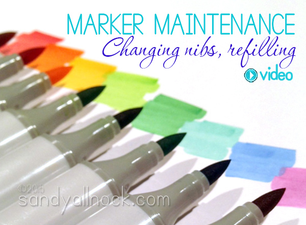 when and how to change copic nibs and refill pens sandy allnock
