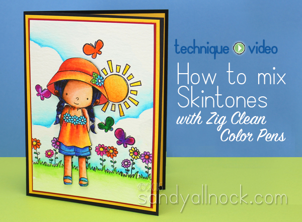 How to mix skintones with Zig Clean Color pens