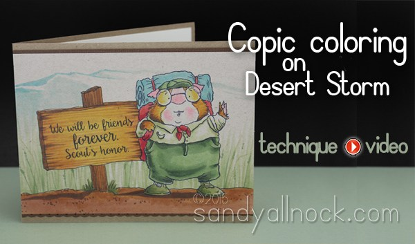 Copic Coloring Tutorial: Desert Storm (kraft-ish) paper