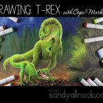 Drawing T-Rex with Copic Markers – ode to Jurassic World!