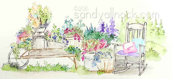 Sandy Allnock - Watercolor scene2