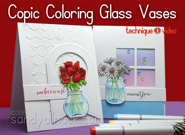 Copic Coloring Glass Jars