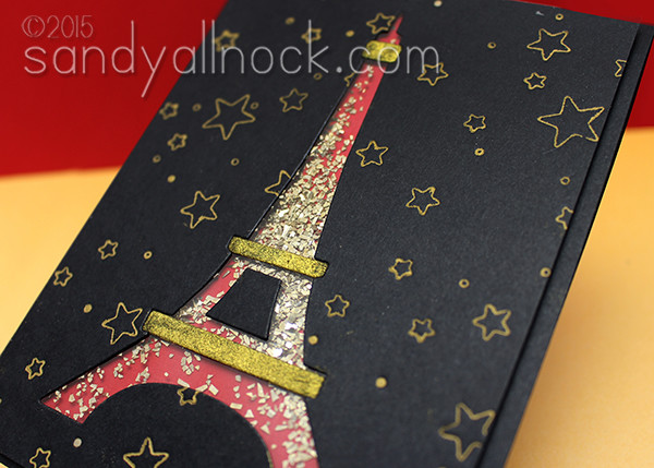 Sandy Allnock Eiffel Tower Shaker Card