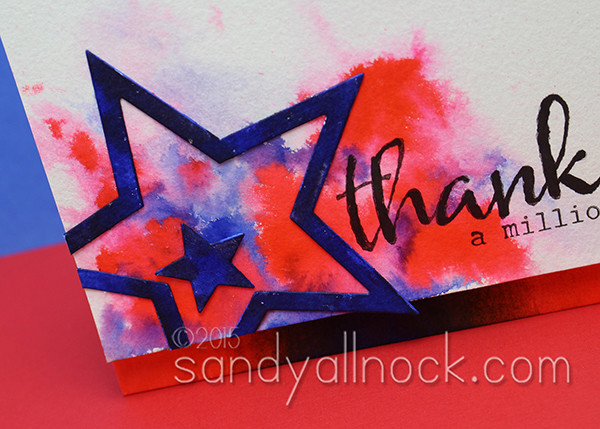 Sandy Allnock Splashy Background Clean Color Pens