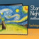 Starry Night by VanGogh – in Inktense Pencils