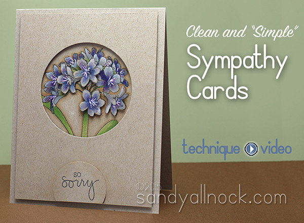 CAS Sympathy Cards: Agapanthus, Technique Tuesday
