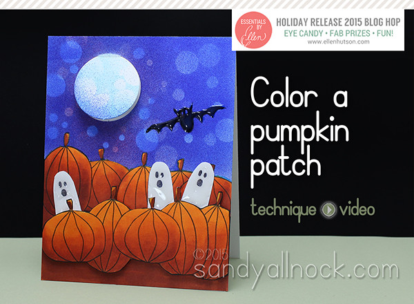Sandy Allnock - Color a pumpkin patch