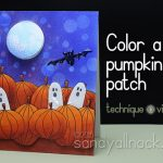 How to color a pumpkin patch